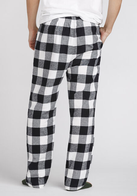 Men's Buffalo Plaid Sleep Pant, BLK/WHT, hi-res