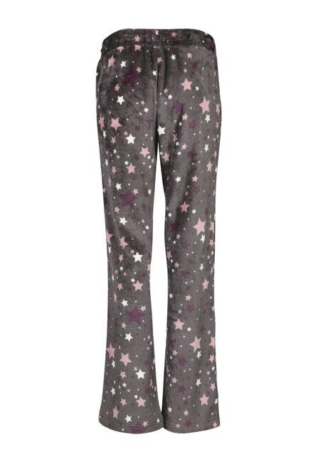 Ladies' Star Plush Sleep Pant, BLACK, hi-res