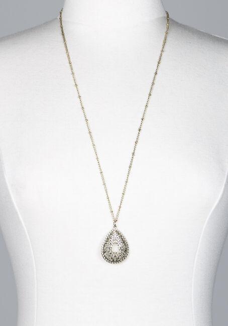Women's long pendant necklace