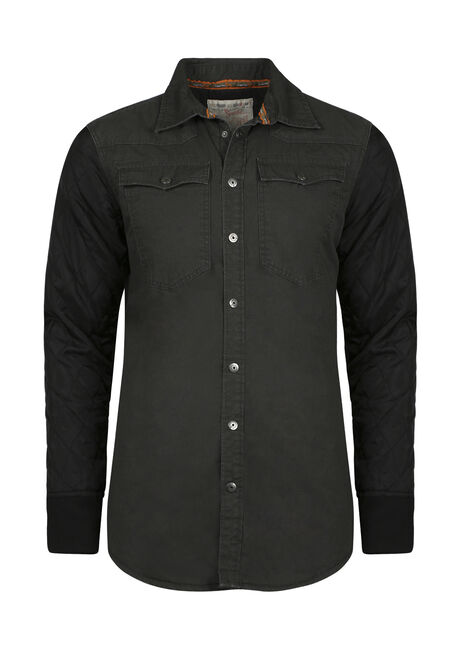 Men's Quilted Sleeve Shirt Jacket