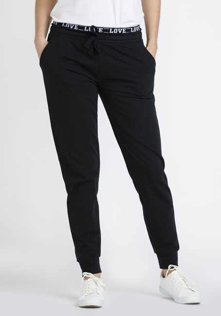 Women's Love Exposed Waistband Jogger