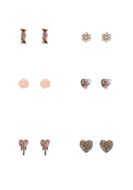 Ladies' Candy Heart Earring Set