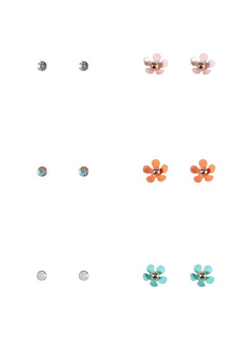 Women's 6 Pair Earring Set, GOLD, hi-res