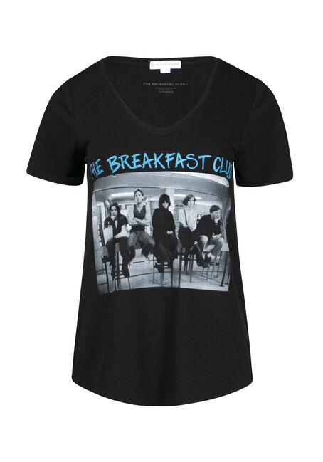 Women's Breakfast Club V Neck Tee