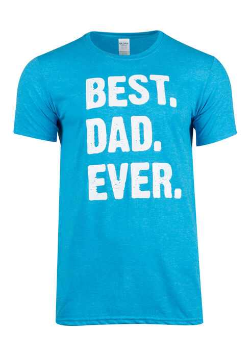 Men's Best Dad Ever Tee, HEATHER SAPPHIRE, hi-res