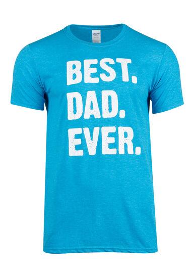 Men's Best Dad Ever Tee, HEATHER SAPPHIRE, hi-res