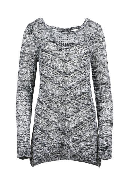Ladies' Pointelle Cross Back Sweater