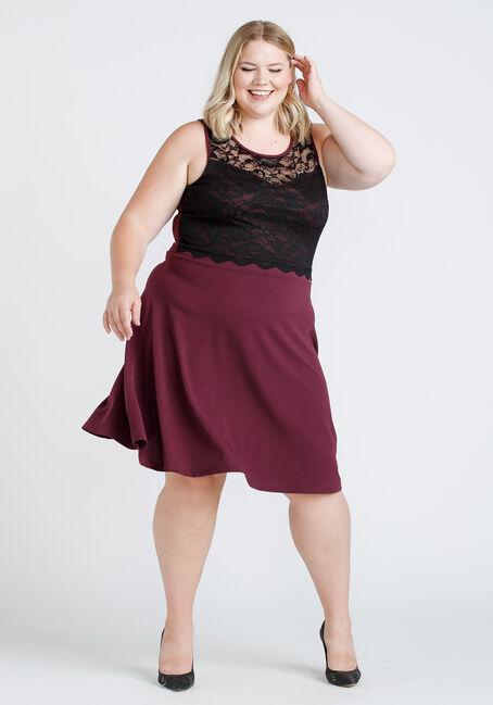 Women's Lace Overlay Dress