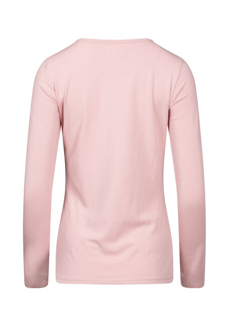 Women's Long Sleeve Tee, DUSTY PINK, hi-res