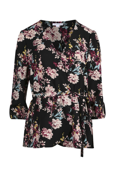 Ladies' Floral Wrap Top