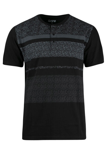 Men's Stripe Henley Tee