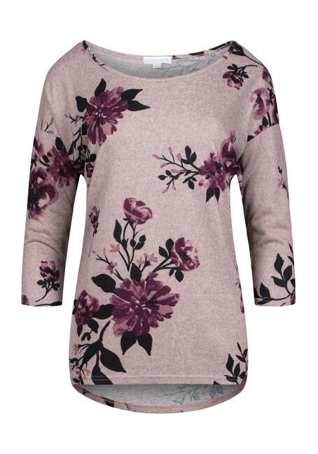 Women's Floral Blossom Dolman Tunic Top