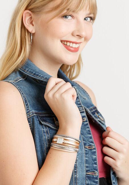 women's magnetic wrap bracelet, COPPER, hi-res
