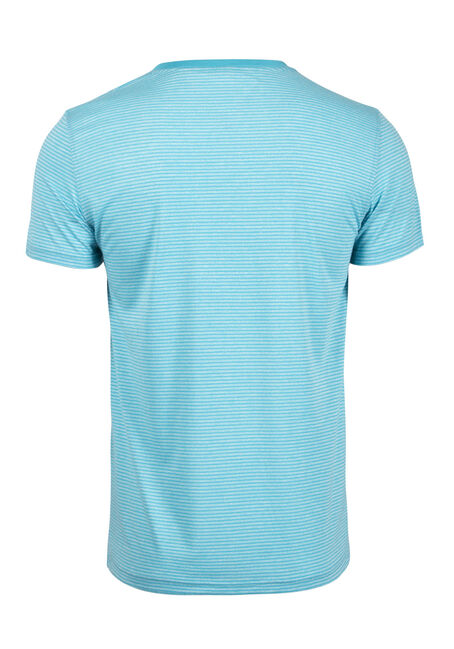 Men's Everyday V-Neck Mini Stripe Tee, TURQ, hi-res