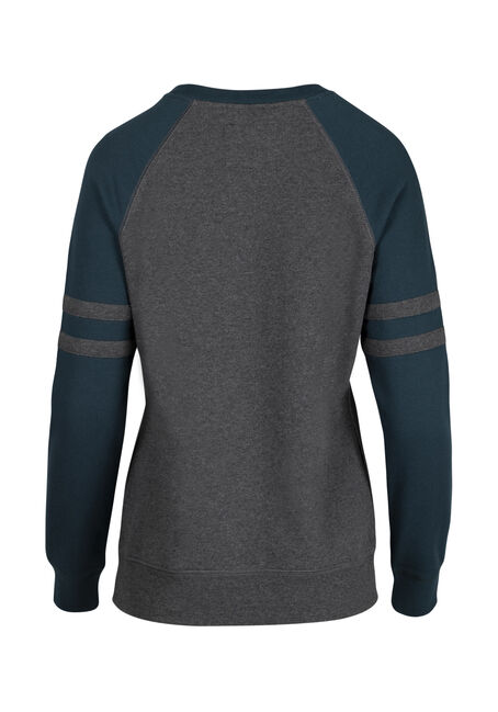 Ladies' Football Fleece, CHARCOAL/TEAL, hi-res