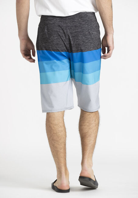 Men's Colour Block Board Shorts, BLUE, hi-res