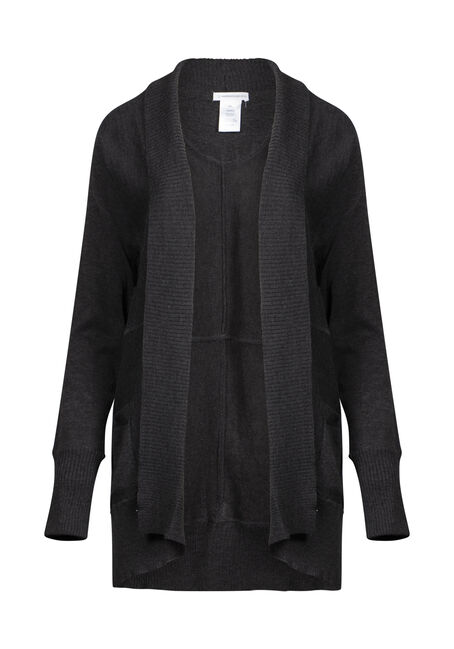 Womens' Marled Open Cardigan