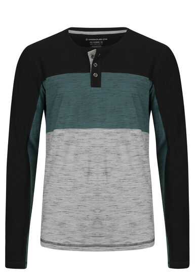 Men's Everyday Henley, ALPINE GREEN, hi-res