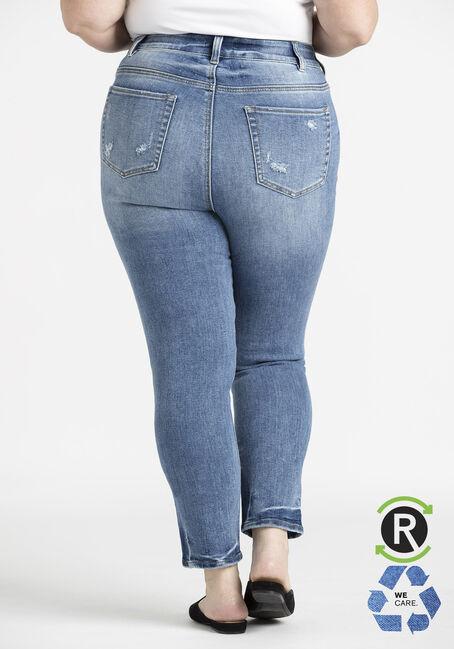 Women's Plus Light Wash High Rise Skinny Jeans, LIGHT WASH, hi-res