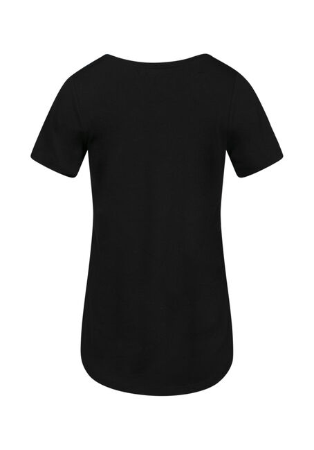 Women's Journey V Neck Tee, BLACK, hi-res