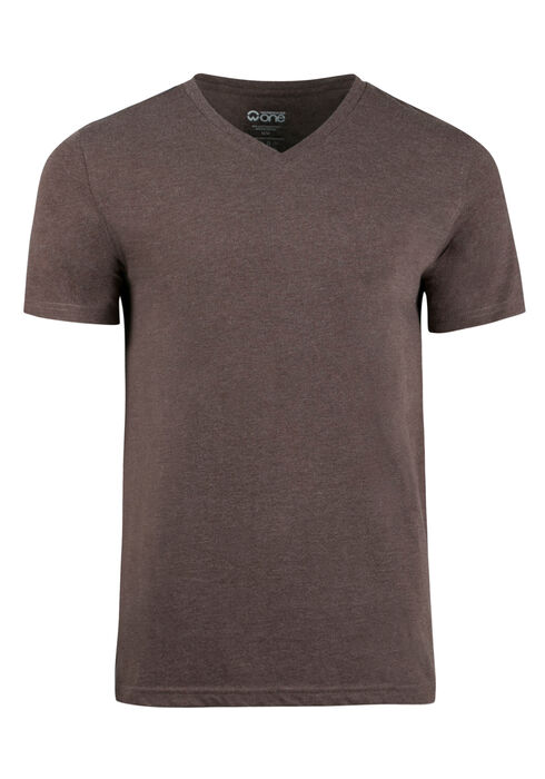 Men's Everyday V-neck Tee, Brown, hi-res