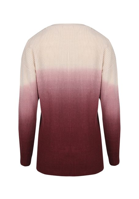 Women's Ombre Sweater, PINK/WINE, hi-res