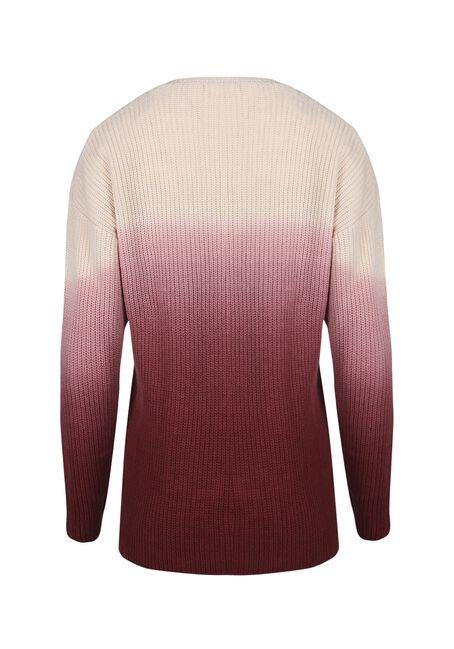 Women's Ombre Sweater, PINK/WINE, hi-res