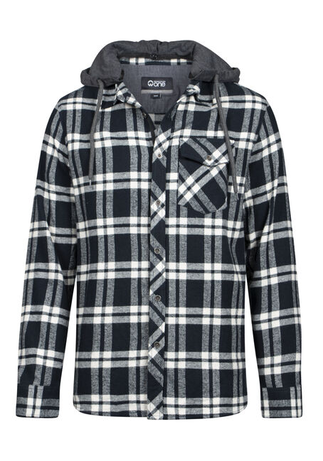 Men's Hooded Flannel Shirt