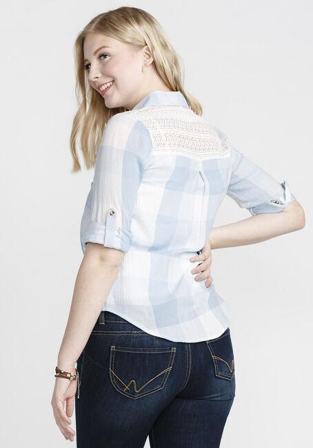Women's Draped Hem Shirt, ROBIN EGG, hi-res