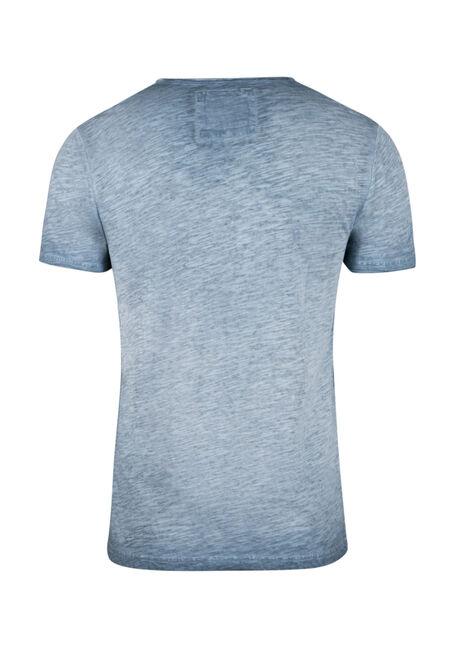 Men's Vintage Split V-neck Tee, BLUE STEEL, hi-res