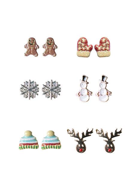 Ladies' 6 Pair Holiday Earring Set