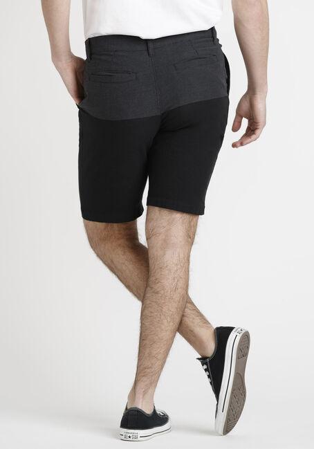 Men's Colour Block Short, BLACK, hi-res