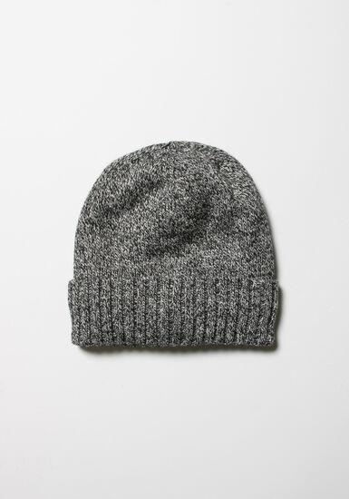 Men's Thermal Hat, BLACK MARLED, hi-res