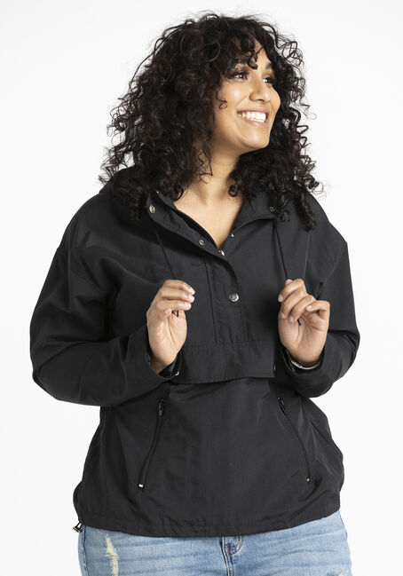 Women's Hooded Windbreaker Pullover