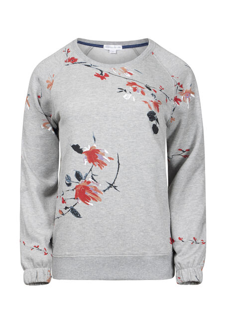 Women's Floral Crew Neck Fleece