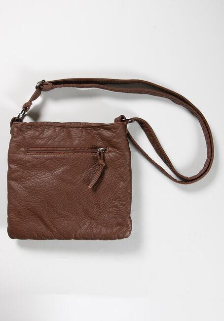 Women's Crossbody Bag, BROWN, hi-res