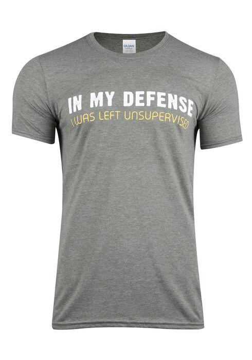 Men's In My Defense Tee, HEATHER MILITARY GRE, hi-res
