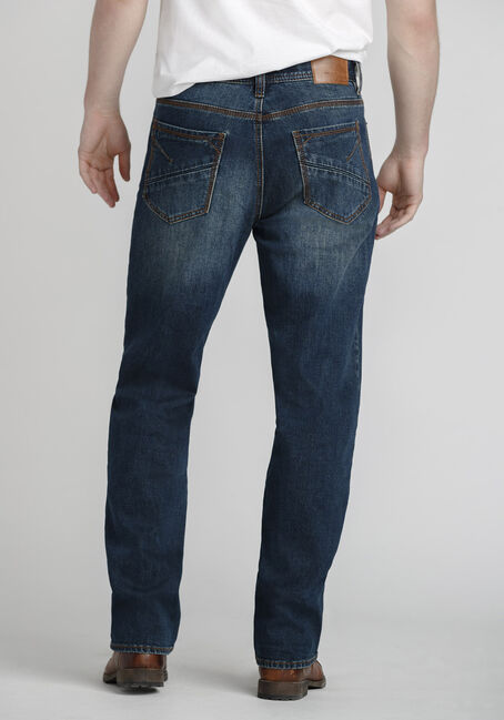 Men's Medium Blue Relaxed Straight Jeans, MEDIUM WASH, hi-res