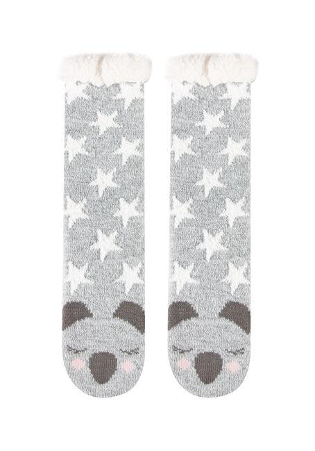 Women's Koala Slipper Socks