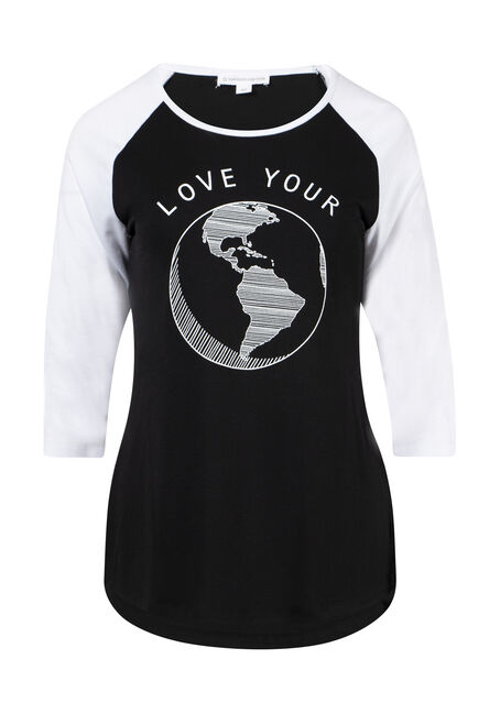 Women's Earth Day Baseball Tee