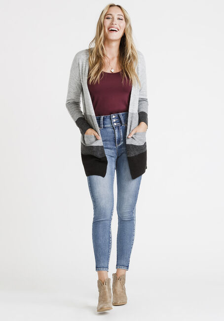 Women's Colour Block Cardigan