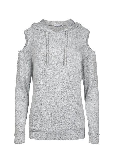 Women's Cold Shoulder Hooded Top