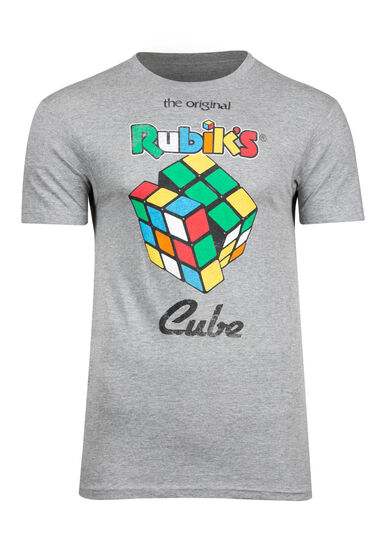 Men's Rubik's Cube Tee, CHARCOAL, hi-res