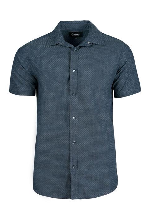 Men's Textured Shirt, Navy, hi-res