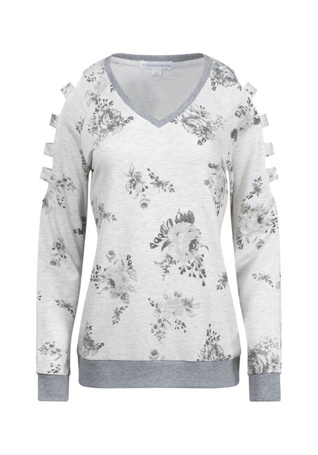 Women's Floral Ladder Sleeve Fleece