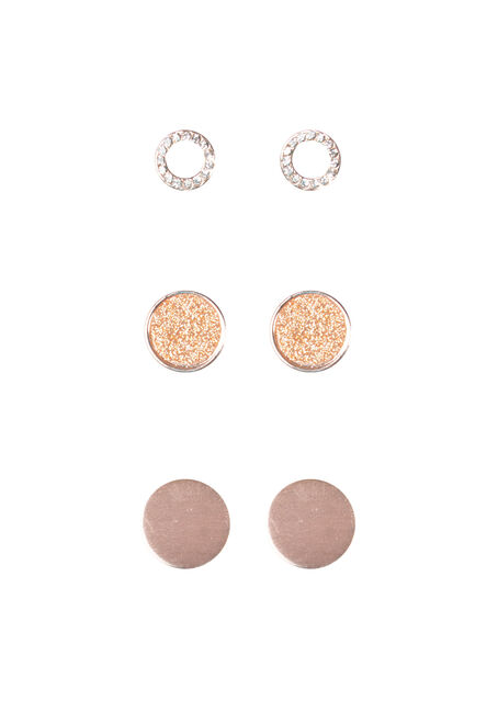 Ladies' Trio Circle Earring Set