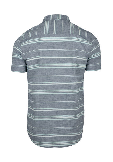 Men's Stripe Shirt, SKY, hi-res
