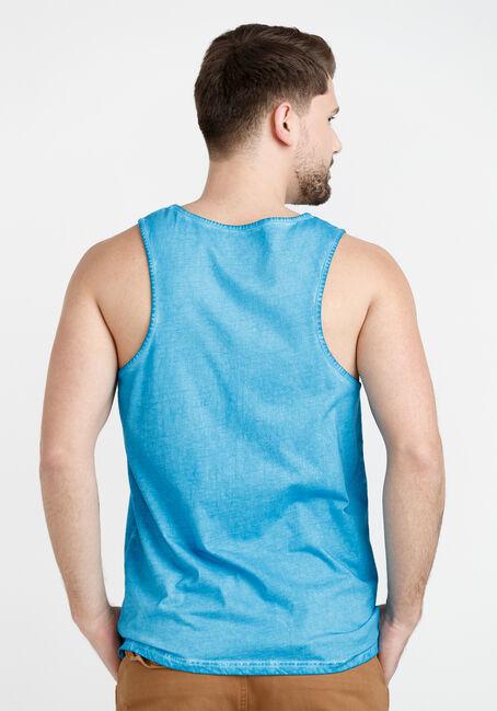 Men's Dirty Wash Solid Tank, BLUE, hi-res