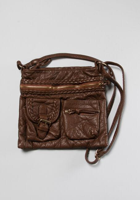 Buckle Pocket Crossbody Bag