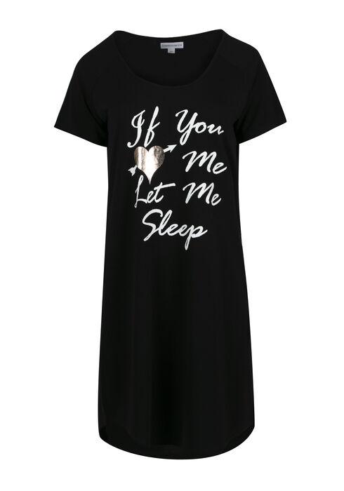 Women's If You Love Me Sleepshirt, BLACK, hi-res
